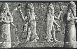 Orang Filistin dan dewa Dagon (Ikan)nya