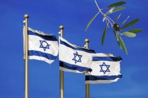 Bendera Israel dan buah Zaitun