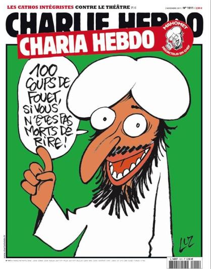 Karikatur charlie hebdo &;100 cambukan jika kamu tidak mati tertawa&;