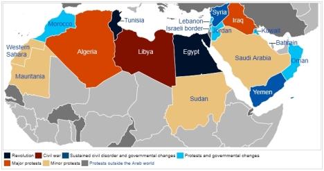 Peta Jalan Arab atau Arab Spring