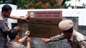Perintah larangan beribadah Jemaat Ahmadiyah di Bekasi