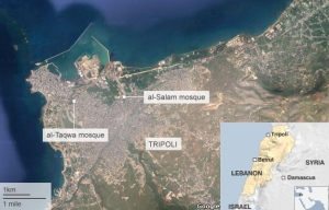 Mesjid-mesjid diserang bom di Tripoli Libanon
