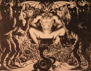 Setan di tahtanya bersama para penghulunya
