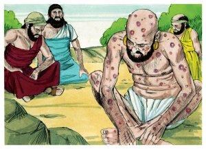 Ayub menderita koreng busuk dari Iblis