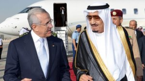 President Libanon M Sleiman dan Pangeran Saudi Salman bin Abdul Aziz al-Saud