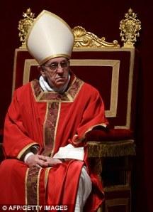 Paus Francis I berpakaian merah