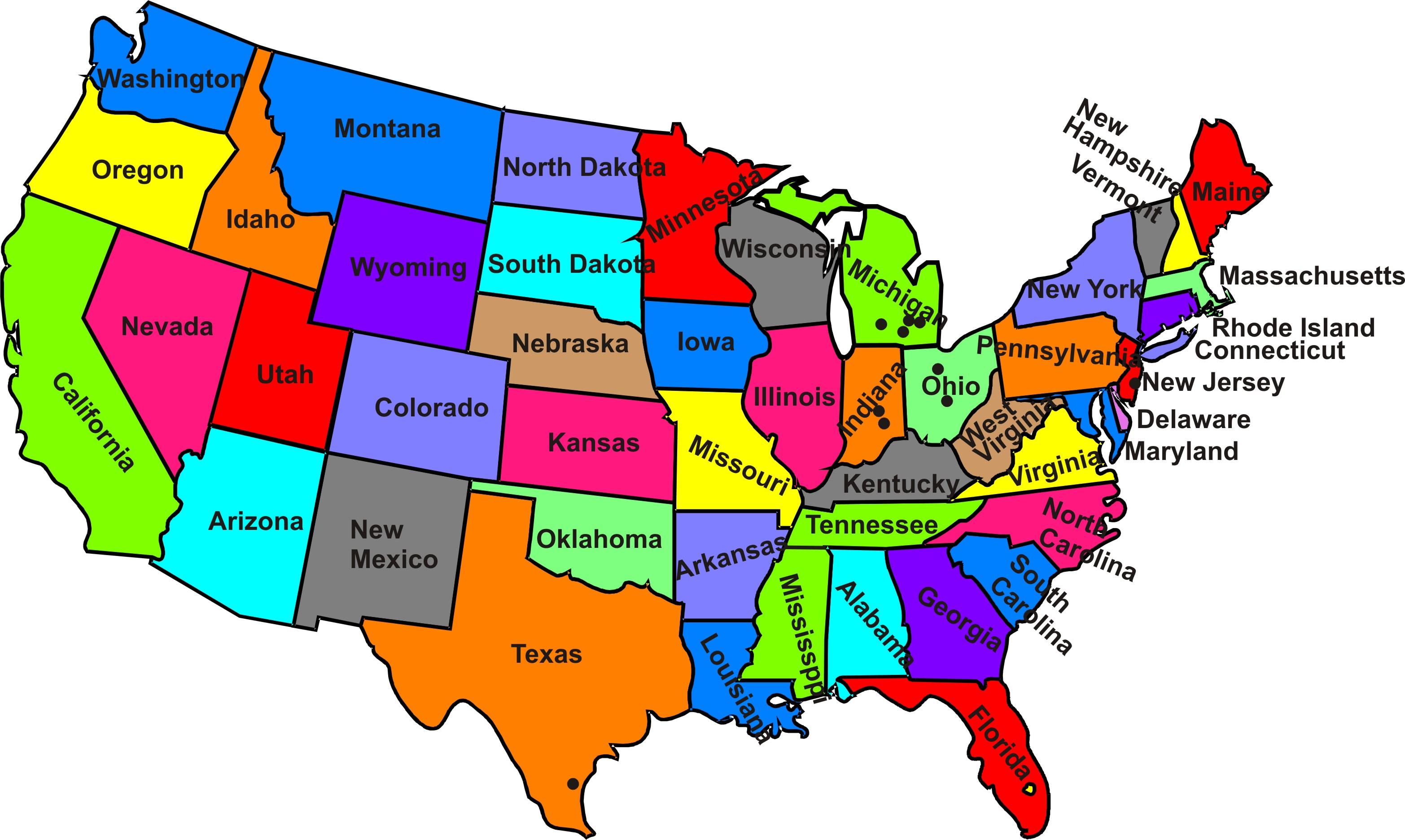 Peta Negara Bagian Amerika ...