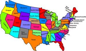 Peta Negara Bagian Amerika Serikat