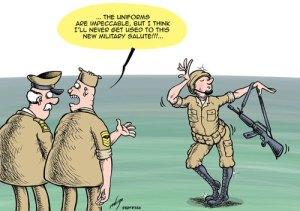 karikatur Militer Amerika Serikat menerima orang homosex sebagai tentara