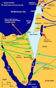 Perang Enam Hari Israel diserbu dari berbagai penjuru