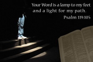 Mazmur 119 ayat 105 Your Word is a lamp and a light