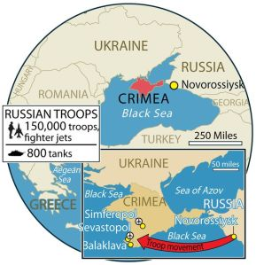 Rusia merebut Crimea dari Ukrainia