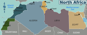 Peta Negara-negara Afrika Utara