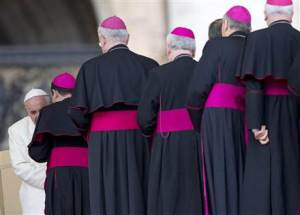 Paus Freancis I bertemu dengan para uskup