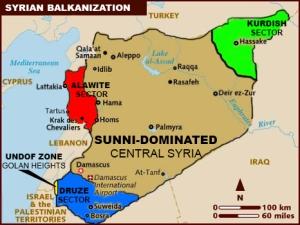 Peta Syria menurut suku