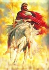 Adonai Yeshua mengendarai kuda putih memerangi Setan Wahyu 19