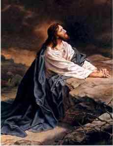 Yeshua sedang berdoa