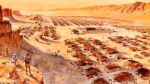 Bangsa Israel tidur dalam tenda-tenda di padang pasir