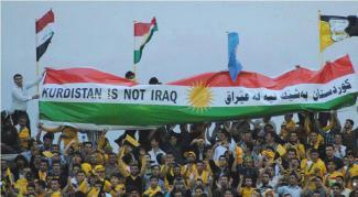 Bener Kurdistan bukanlah Irak pada bendera Kurdistan