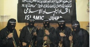 Foto Jihad Islam menyembunyikan wajah mereka