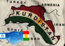 Peta negara Kurdistan dan negara-negara tetangganya