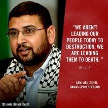 Hamas Kami memimpin mereka (rakyat Palestina) kepada kematian
