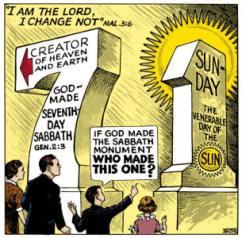 Karikatur Sabat alkitabiah dan tradisi manusia