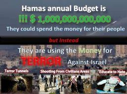 Pengeluaran uang tahunan Hamas untuk terror melawan Israel