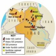 Peta kehadiran dan pendudukan Islam Kalifat Agustus 2014