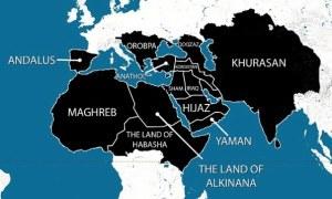 Peta mengilurstrasikan rencana penjajahan Negara Islam Kalifat