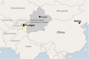 Shache distrik Kashgar, Xinjiang Cina
