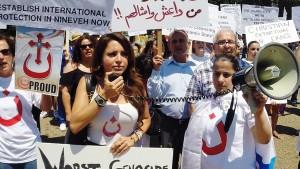 Kristen Timur Tengah protest menentang Negara Islam