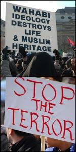 Muslim London protes menolak Negara Islam
