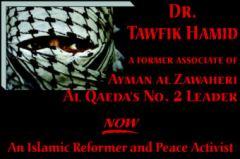 Poster Dr. Tawfik Hamid sebagai ex-Jihadst
