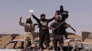 Militan Negara Islam Khalifah dengan senjatanya