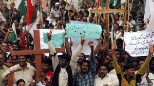Kristen Pakistan demo anti-Hukum Hujat Islam yang disalah gunakan