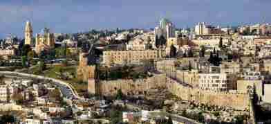 Pemandangan Kota Yerusalem Israel