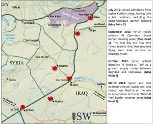 Peta Al-Qaim Para Pemimpin NIK terpukul parah oleh serangan udara AS