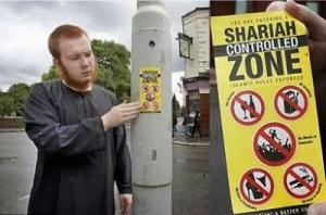 Bule Muslim  Inggris kampanye Daerah di kontrol Shariah Islam