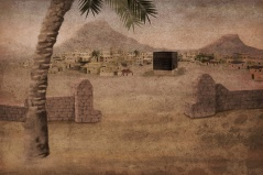 Lukisan Mekka kuno dengan Kaabanya