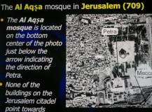 Mesjid Al Aqza Yerusalem 709 AD kiblat ke Petra