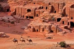 Pemandangan kota Kuno Bakka Petra