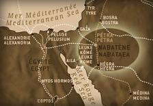Peta lokasi suku kuno Nabataea Petra ibukotanya