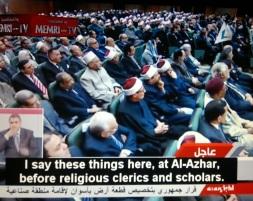 Pidato President El-Sisi dihadapan para pemimpin dan ahli agama Islam di Al-Azhar 28 Desember 2014