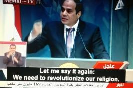 Pidato President Mesir Al-Sisi Kita perlu merevolusioniskan agama kita 28 Desember 2014