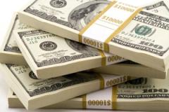 Setumpuk uang dollar