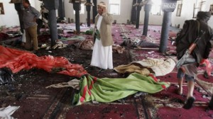 Muslim Sunni menyerang  mesjid Syiah saat sembayang Jumat Sanaa, Yemen