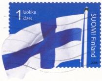 Perangko Bendera Finlandia