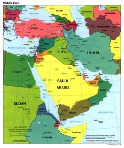Peta negara-negara Timur Tengah