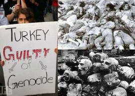 Orang Armenia protes Turki atas genosit abad 20